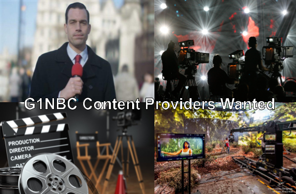 G1NBC Content Providers Wanted