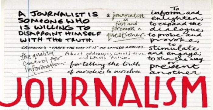 The Journalist's Creed: –